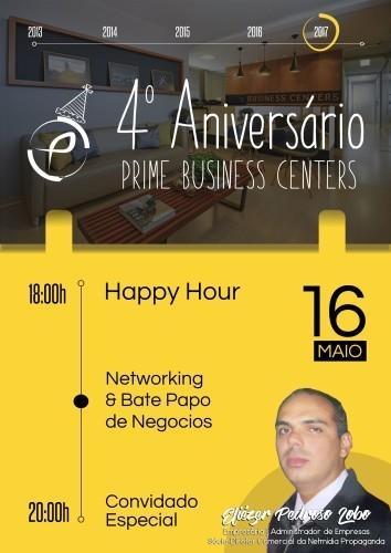Happy Hour e Networking – 4º Aniversário da Prime Business Centers